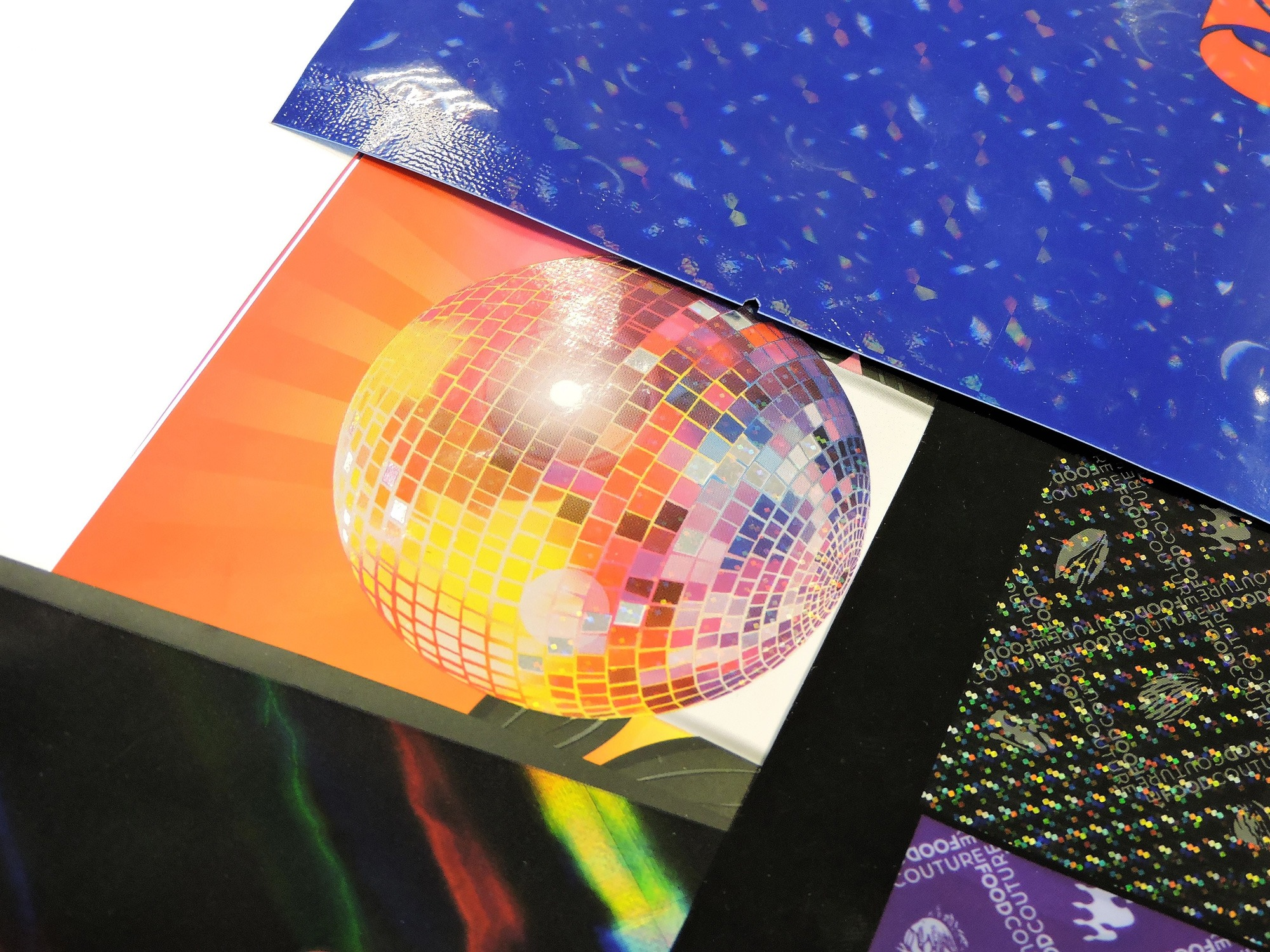 Holographic printing for food packaging film, pouches and bags